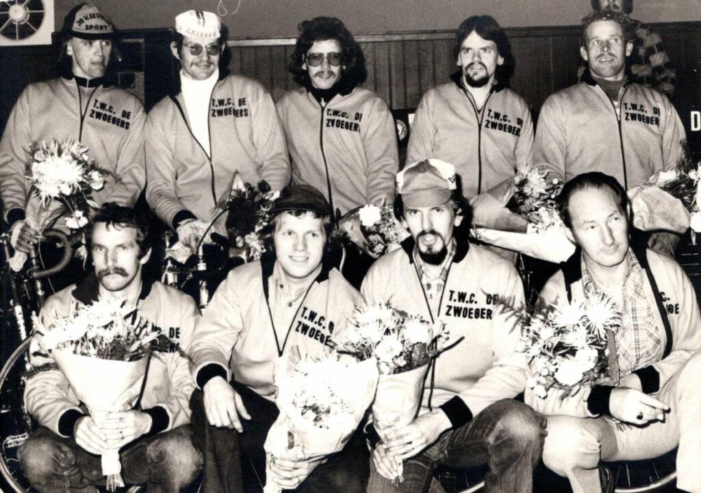 Deelnemers en begeleiders Parijs Budel 21-09-1977